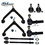 99 grand prix ball joint - DLZ 8 Pcs Front Suspension Kit-2 Upper Control Arm Ball Joint Assembly 2 Lower Ball Joint 2 Outer 2 Inner Tie Rod End Compatible with 2002 2003 2004 2005 Dodge Ram 1500 K7411 EV407 K7424 ES3538