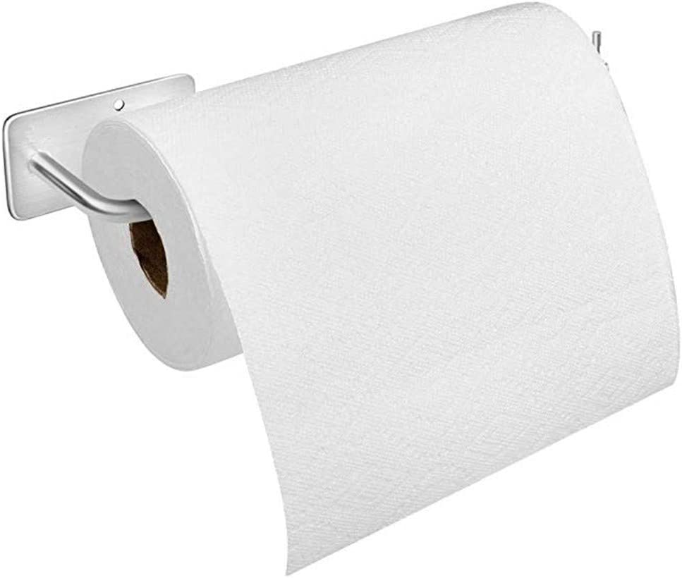 "Paper Towel Holder Wall Mount, with 3m Adhesive Stainless Steel Paper Towel Holder, No Drilling Required (12"" x 3.14"")"