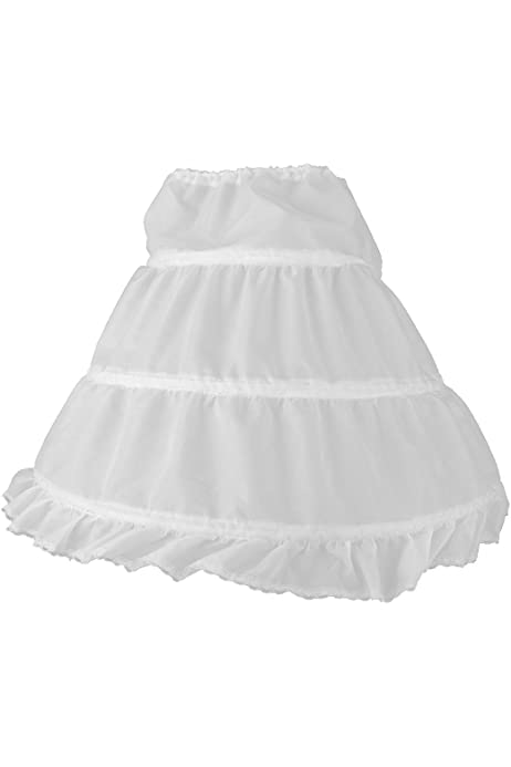 KSDN Girls Flower Dress Petticoat Hoopless Slip Elastic Waist Underskirt Crinoline