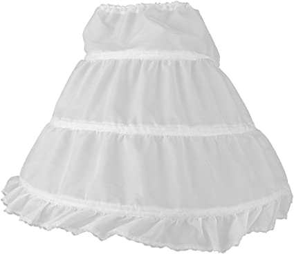 PIXNOR Falda crinolina enagua de medio resbalón muchacha de flor ...