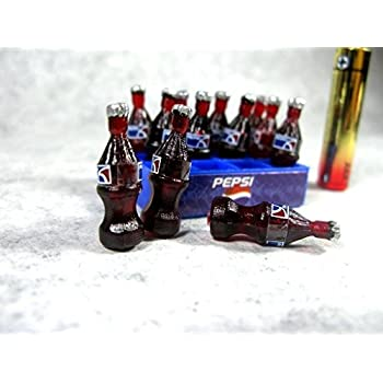 1:12 Scale Miniatures Miniature Beer Bottle #4 Brown w//Star for DOLLHOUSE