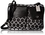 Image of Nine West Pop Pocket Cross Body Bag, Black White/Black White/Black, One Size