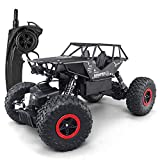 SZJJX RC Cars Off-Road Rock Vehicle Crawler Truck 2.4Ghz 4WD High Speed 1:14 Radio Remote Control Racing Cars Electric Fast Race Buggy Hobby Car (Black)