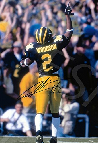 (Charles Woodson Autograph Replica Poster Print - Michigan Wolverines)