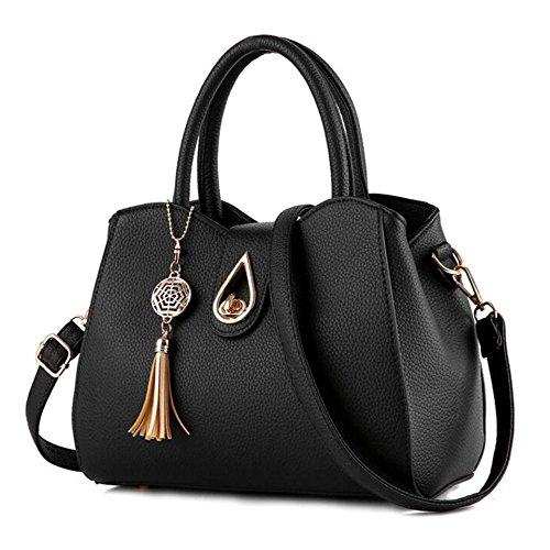 A L024uk Borsa Msxuan Donna Nero Zainetto noir Black 5PfxTxqwY