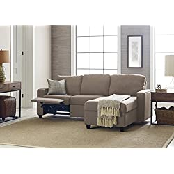 Serta Palisades Reclining Sectional with Right Storage Chaise - Warm Oatmeal