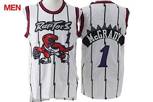 Mens Brand New Retro Jersey, Toronto Raptors #1 Tracy McGrady White XXL