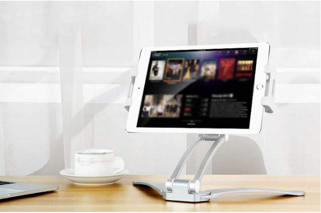 Color : White Stretch Mobile Phone Bracket Aluminum Lazy Hanging 360 Degree Adjustment Multi-Function Creative Personality Bedside Desktop Office Student Gift 2 Color MUMUJIN