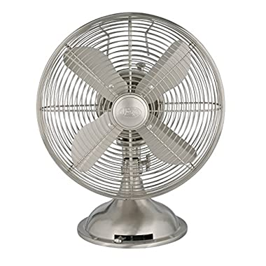 Hunter 90400 12  Metal Fan, Brushed Nickel Finish (Table Fan, Portable Fan)