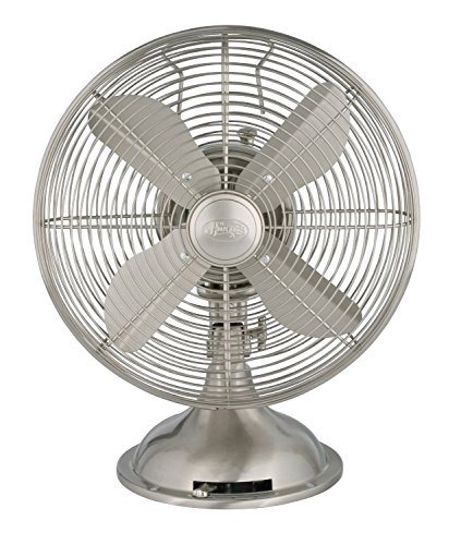 Hunter Fan Retro 90400 Desk Fan - 12 Diameter - 3 Speed - Ad