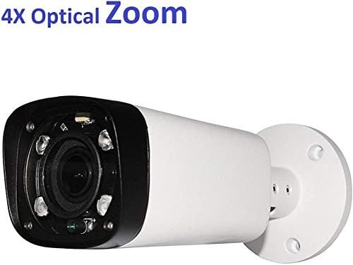 4MP Outdoor Bullet POE IP Camera, IPC-HFW4431R-Z, 2.7-12mm Motorized Varifocal Lens 4X Optical Zoom, Security Network CCTV Camera, 262ft IR Night Vision, Smart H.265, WDR DNR, IP67
