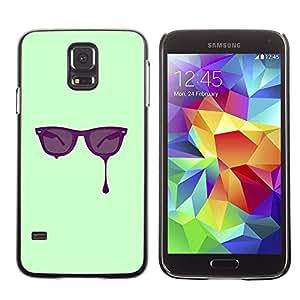 TECHCASE**Cubierta de la caja de protección la piel dura para el ** Samsung Galaxy S5 SM-G900 ** Glasses Paint Art Eyes Purple Painting Drawing