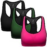 MIRITY Women Racerback Sports Bras - High Impact Workout Gym Activewear Bra Color Black Green Red Size 3XL