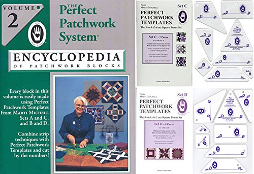 Marti Michell Perfect Patchwork System Volume 2 Bundle - Includes Required Templates Sets C and D by Marti Michell