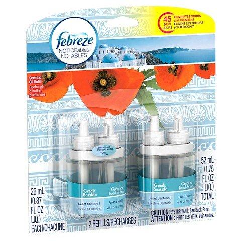 Febreze NOTICEables Greek Seaside Dual Scented Oil Refill 2 - Scented Oil Dual