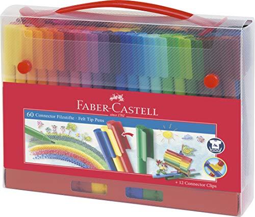 Faber-Castell 155560 Felt-Tip Pen Connector in Case 60 Pieces (Faber Castell Connector Pen And Pencil Set)
