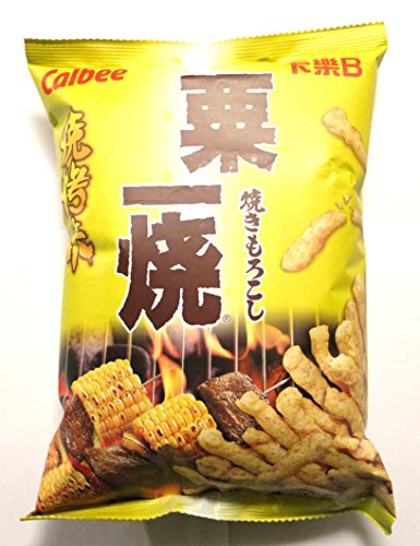 Calbee Grill-a-Corn Chips - BBQ Flavored (Pack of 4) -