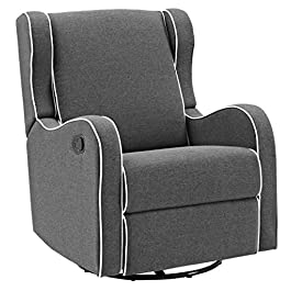 Angel Line Rebecca Upholstered Swivel Gliding Recl...