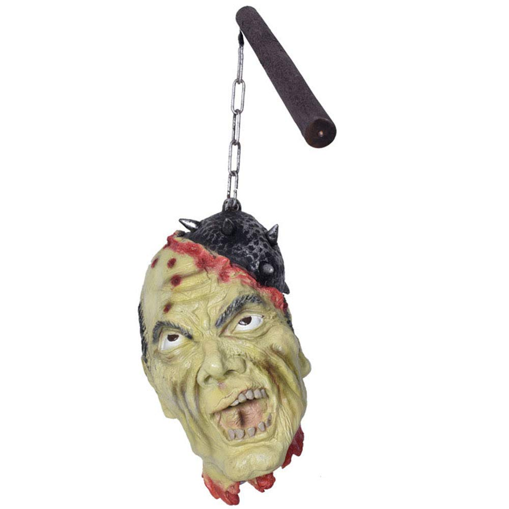 CHAREL Hanging Dead Head, Bloody Hanging Head Halloween Props Vampire Party Decorations Supplies (A)