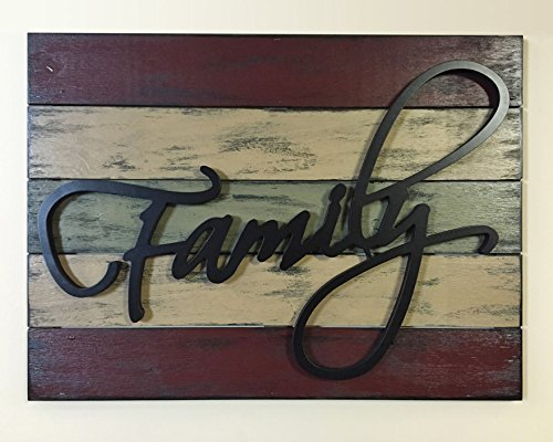 FAMILY Wall Decor Pallet Style Sign 32