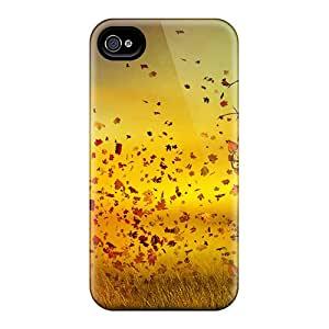 Iphone 4/4s Hard Back With Bumper Silicone Gel Tpu Case Cover Nature Woman