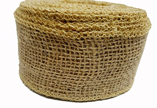 AAYU Brand Premium Jute Ribbon | Burlap Roll | 4.5 inch x 10 yards | Food Grade | Eco-Friendly, Natural Burlap Ribbon (Eco Friendly Ribbon)