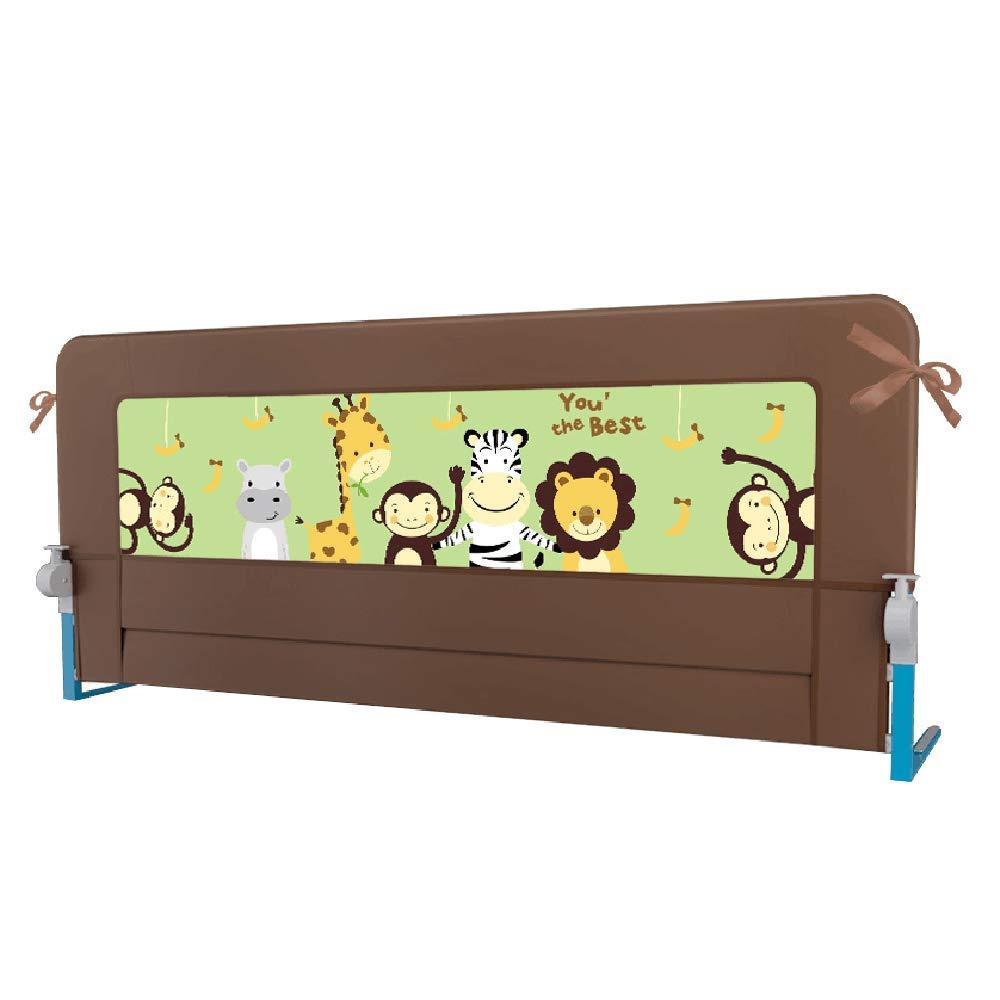 NAN liang ポータブル折り畳み式ベッドレールベッドガード保護安全幼児チャイルドブラウン   B07KJKSQXN