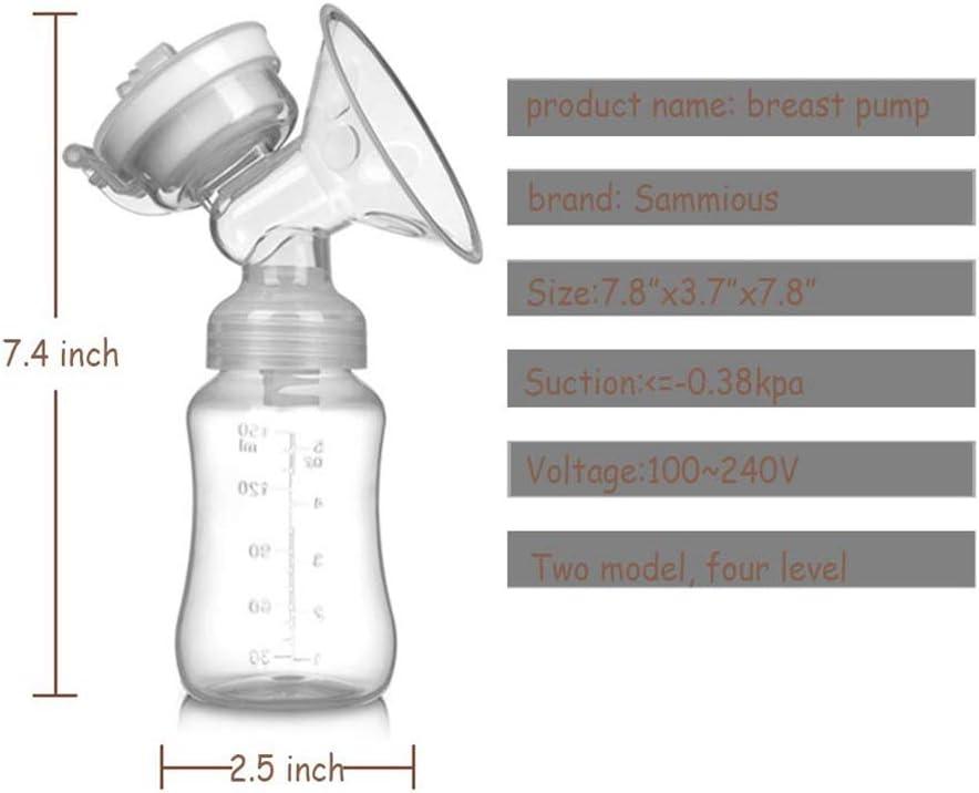 HS-ZM-04 Elektrische Milchpumpe Automatische Intelligente Babyern/ährung Doppel Elektrische Milchpumpen 2 Verstellbare Mode /& 4 Pumping Saugstufen F/ür Mamas Stillen