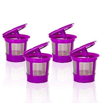 K-Cup - Filtro de café reutilizable para cafeteras Keurig Family 2.0 Classic 1.0 Keurig K55 Filter Keurig 2.0 reutilizable K Cups Keurig k425 - 4 unidades: ...