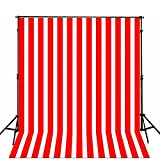 1.5x2m baby background Red and white strips wall children photo background photo studio backdrop CM-S-1286