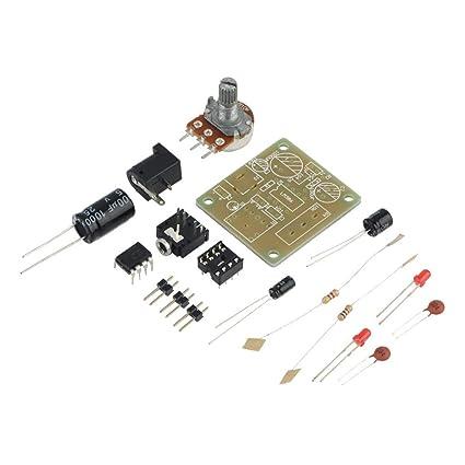 LM386 DIY Mini Amplificador Tablero Módulo Amplificador de Audio de Alto Rendimiento 3V-12V Accesorios