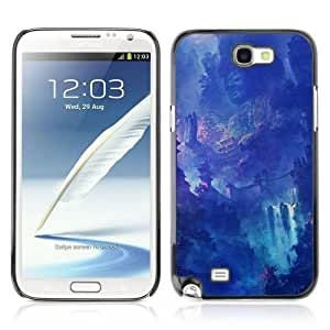 Designer Depo Hard Protection Case for Samsung Galaxy Note 2 N7100 / Fantasy Asian Waterfall Temple