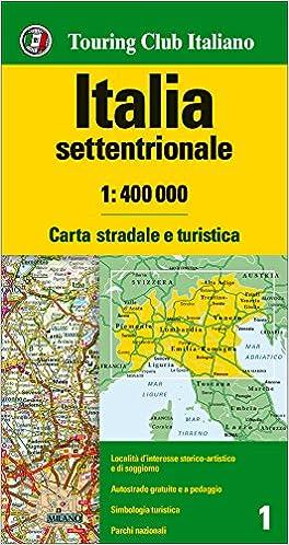 Cartina Stradale Di Italia.Amazon It Italia Settentrionale 1 400 000 Carta Stradale E Turistica Lingua Inglese Aa Vv Libri