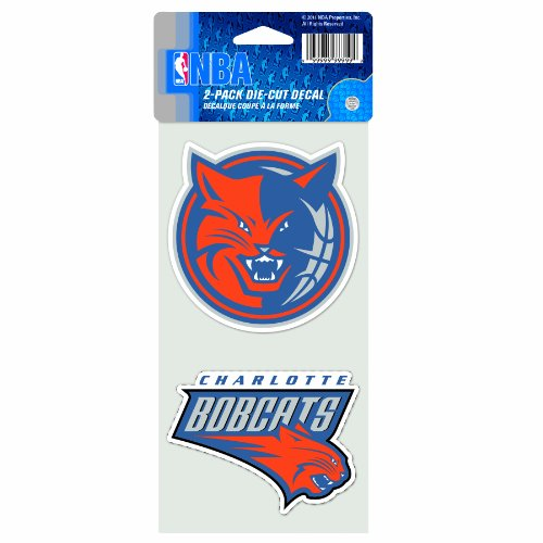 (NBA Charlotte Bobcats 4-by-8 Die Cut Decal)