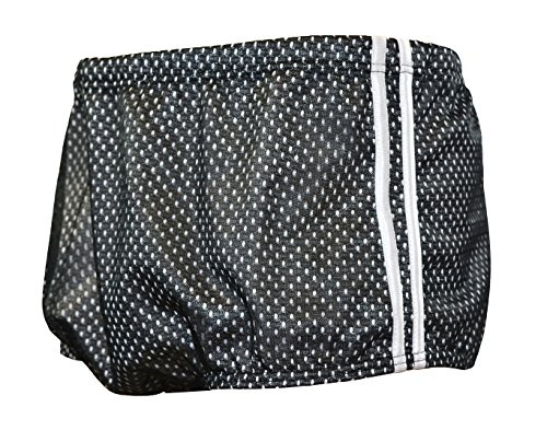 Adoretex Men's Polymesh Training Drag Suit, Black/White, - Suit Swim Drag