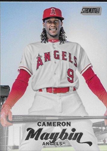 2017 Topps Stadium Club #184 Cameron Maybin Los Angeles Angels Baseball Card