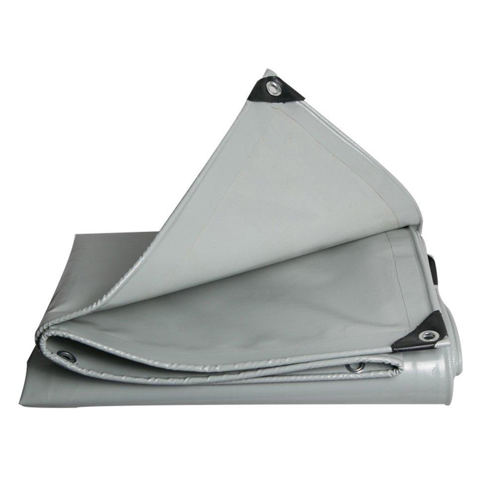 LIANGJUN オーニング サンシェード 両面 ポリ塩化ビニル コーティング 日焼け止め タープ 防水 引裂抵抗 耐摩耗性、 600g/m²、 厚さ0.48mm (色 : グレー, サイズ さいず : 4X4m) B07D1QFLF6 11093 4X4m|グレー グレー 4X4m