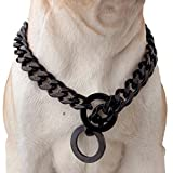 Strong Stainless Steel Chain Durable Dog Walking Training Collar for Pitbull German Shepherd and Medium Dog