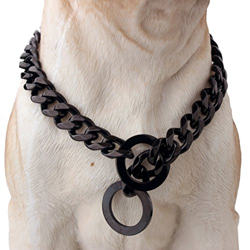 W&W Lifetime Strong Stainless Steel Chain Durable Dog Walking Training Collar for Pitbull German Shepherd and Medium Dog