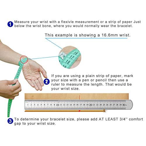 Divoti Deep Custom Laser Engraved Lovely Filigree Medical Alert Bracelet -Stainless Heart Link -White-6.5'' by Divoti (Image #3)