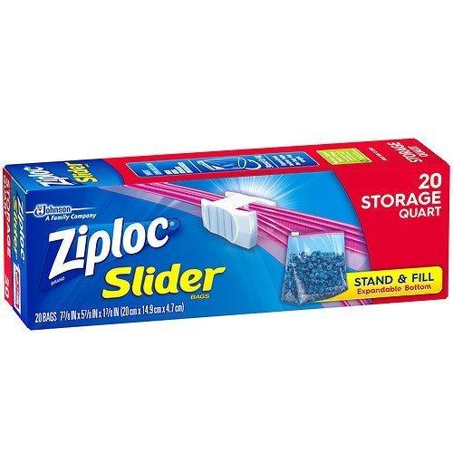 4 x Ziploc Slider bolsas de almacenamiento, Quart 20 EA ...