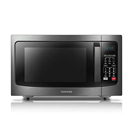 Toshiba EC042A5C-BS Microwave Oven with Convection Function Smart Sensor  and LED Lighting, 1 5 Cu ft, Black Stainless