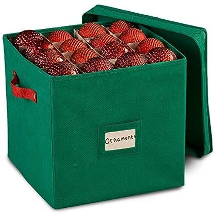 amazon com durable non woven christmas ornament storage box with