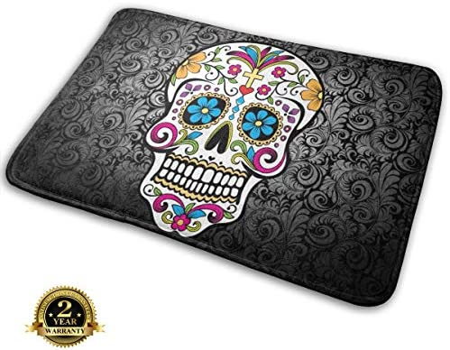 Bumeryer Custom Doormat Rug Indoor Bathroom Kitchen Absorbent Non-Slip Door Mats Home Decor 23.6 L x 15.7 W 23.6 x 15.7 , Skull