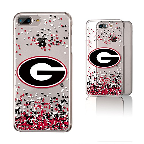 Keyscaper KCLR7X-00GA-FETTI1 Georgia Bulldogs iPhone 8 Plus / 7 Plus / 6 Plus Clear Case with UGA Confetti Design (Iphone 6 Cases Georgia)