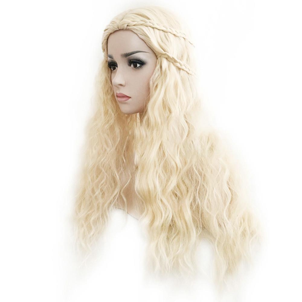 Juego de Tronos Daenerys Targaryen peluca pelo mujer Masquerade Cosplay Completo Pelucas: Amazon.es: Belleza