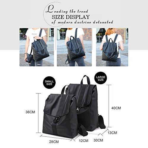 Yoome Oxford Stoff Wasserdichte Rucksack Durable Große Kapazität Schule Bookbag Lässige Leichte Tasche für Frauen & Männer Blau-S Grau-S