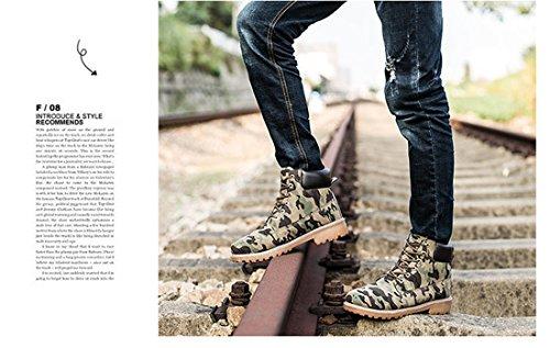 Man Kvinna Chukka Snö Boots Snörning Mode Vattentät Halkskydd Arbete Utomhus Vandring Martin Bekämpa Bootie Boot Kamouflage