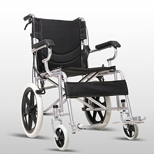 LYYYL Wheelchair Lightweight Folding Portable Transport Chair