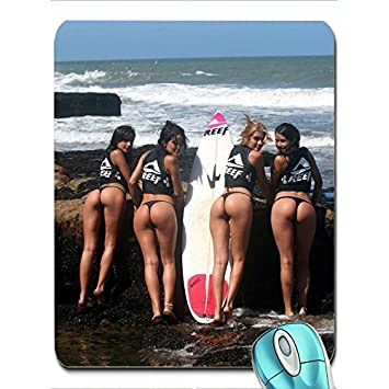 Brunettes Women Beach Ass Surfing Miss Reef X Wallpaper Wallpaper